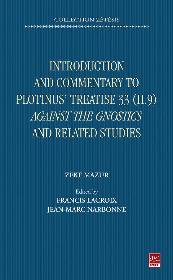 Zeke Mazur, Couverture livre PUL 2019